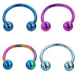 Circular Barbell acero color 1,2mm